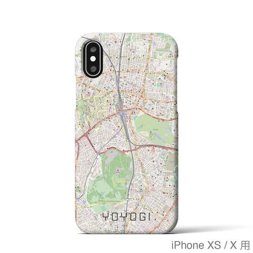 【代々木】地図柄iPhoneケース(バックカバータイプ・ナチュラル)
