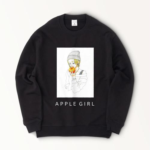 APPLE GIRL スウェット・ブラック