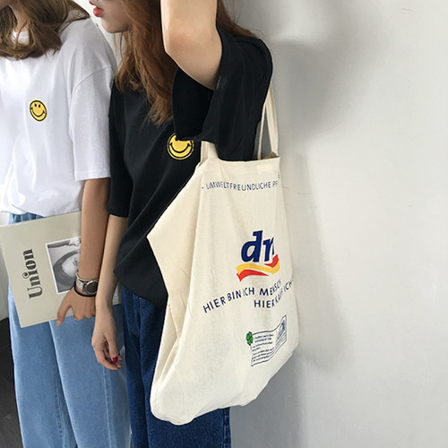 【即納♡】English Letter Canvas bag 6755