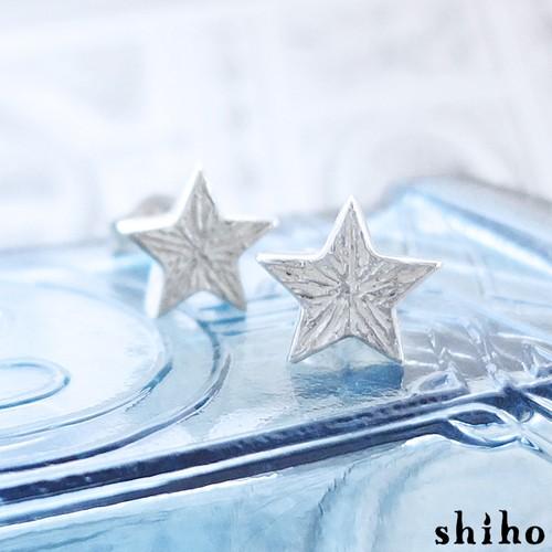 大人っぽい雰囲気の1つ星ピアス【star pierce(sv)】