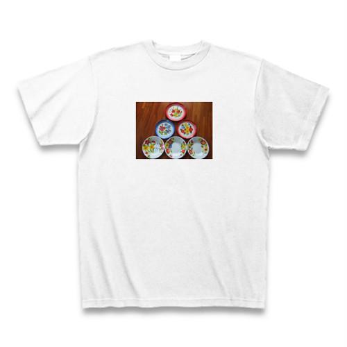 タイ製ホーローのお皿 Tシャツ ホワイト【送料込み】