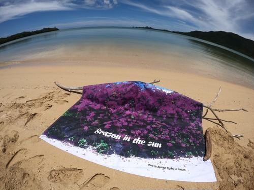 オリジナルビーチタオル「Bougainvillea」Sサイズ