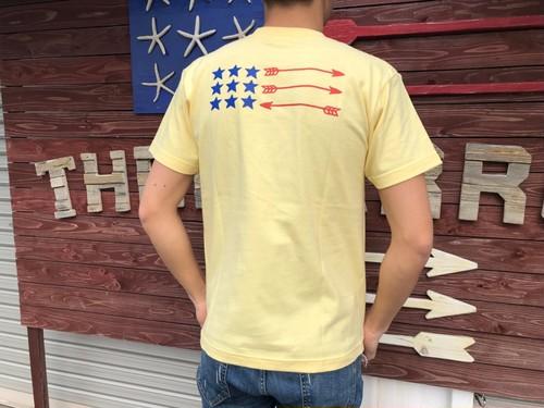 【4/17 21:00販売開始】Back Arrow Flag Tシャツ(yellow)