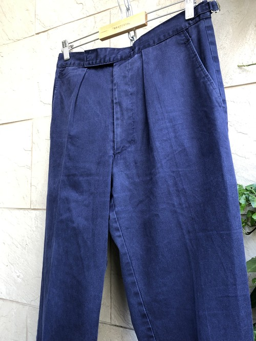 1970s〜 British royal navy blue working trousers