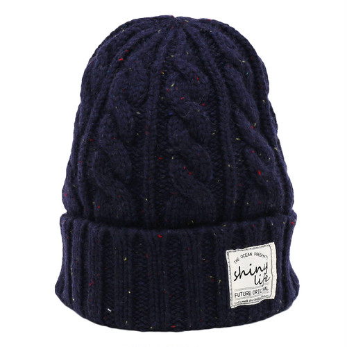 NEP CABLE KNIT CAP - NAVY