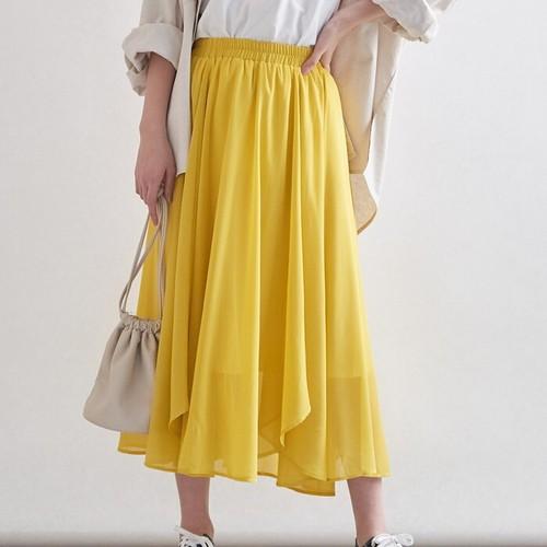 【春の訪れが待ち遠しい♡フレアなラインスカート】チューリップヘムスカート5カラー