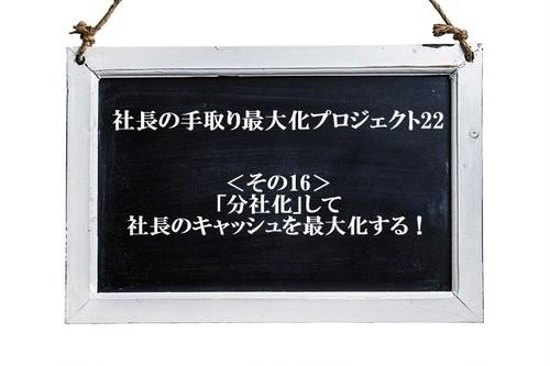 「分社化」して 会社のキャッシュを最大化する!(1・2)◀小冊子(vol.16/22)▶