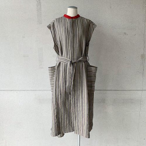【ippei takei】2face onepiece/stripe/2112-903