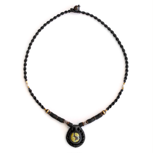 original.no.187 necklace / black turquoise