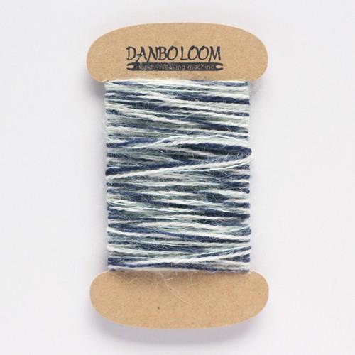 オリジナル引き揃え毛糸015 インディゴ×モヘア