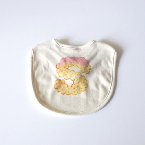【受注生産】 ビスケットアルファベット スタイ (イチゴ) ● organic cotton 100%
