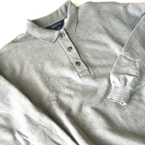LANDS' END : 90's polo collar sweat shirt (used)