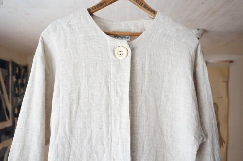 90's linen sack pull-over Dress
