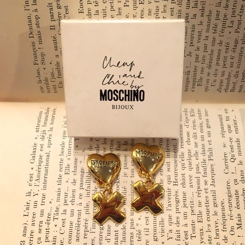-dead stock- MOSCHINO gold earring