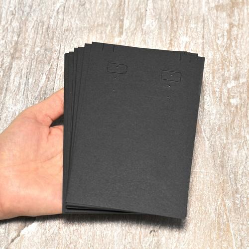 大ぶり 台紙 (黒)20枚 9×13.5cm イヤリング ピアス ネックレス兼用  日本製 イヤリング台紙 穴あり D119