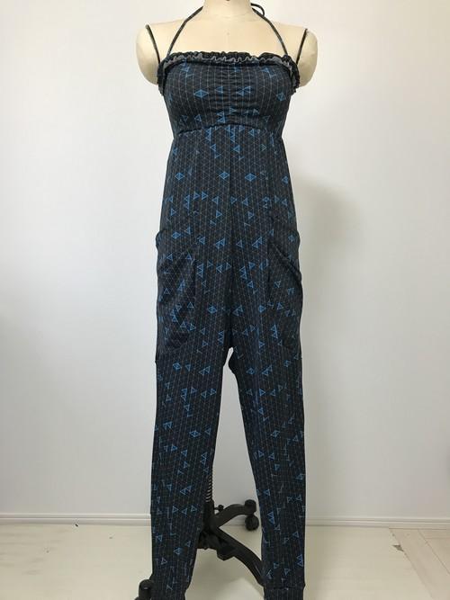 7号☆ブラパッド付ロングロンパースドレス