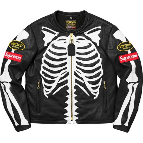 Supreme x Vanson Leather Bones Jacket Black