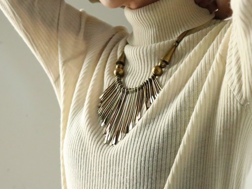 Vintage  ethnic motif necklace