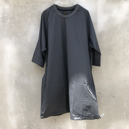 "RYU ""nylon chambray poncho-shirt"""