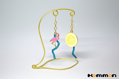 Flamingo&Lemon〈耳飾り〉