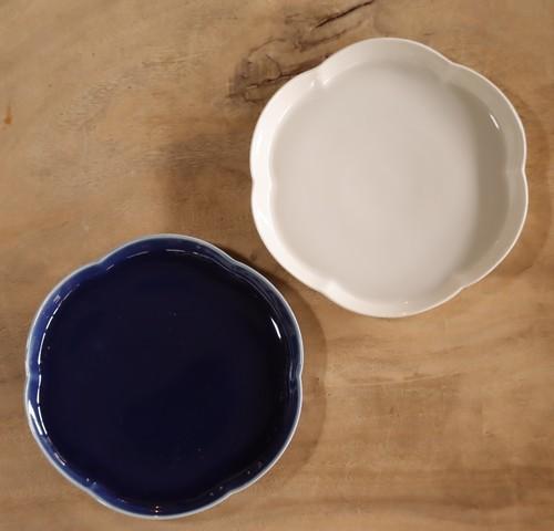 カタウチ リンカ皿(深瑠璃・白磁) 各1枚