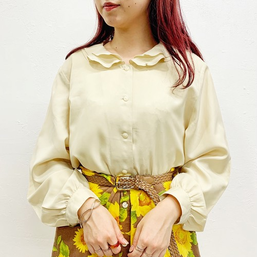 (LOOK) frill collar l/s blouse