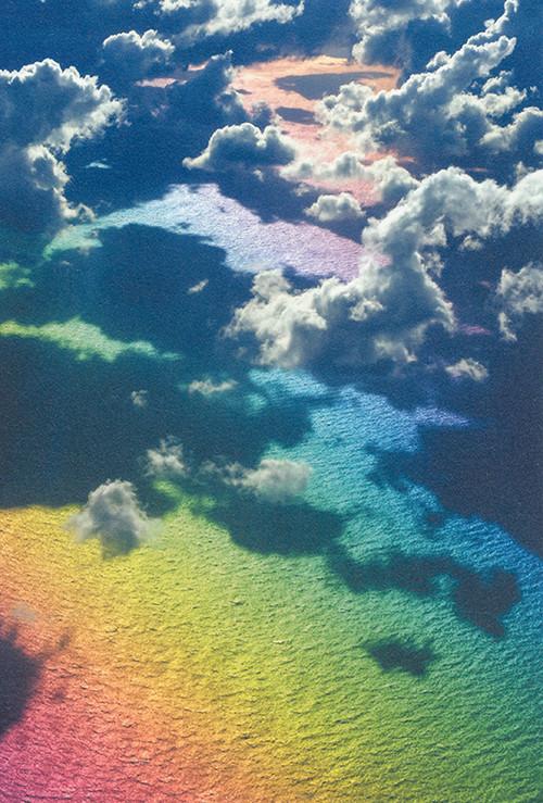 八木千賀子・【ポストカード】空から見る虹の海
