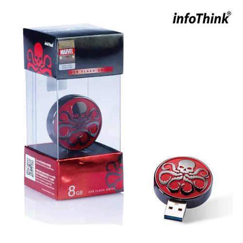 InfoThink OTG USBメモリ MARVEL アベンジャーズ エイジ オブ ウルトロン OTG MicroUSB USB フラッシュドライブ 8GB HYDRA エンブレム IT-USB3-102(Hydra)8GB