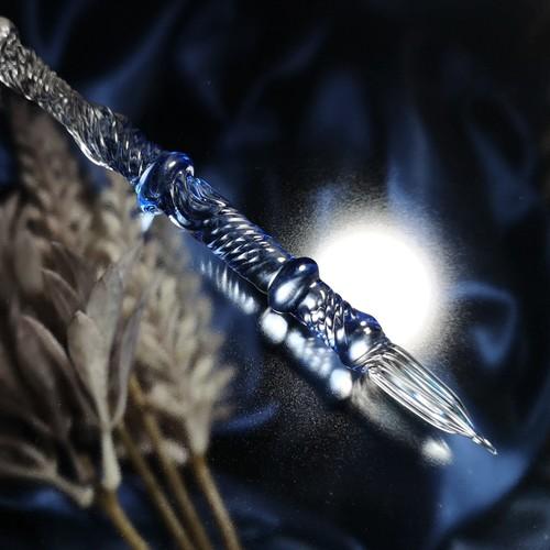 シンプルなガラスペン ほのかなブルー【試作品】2020329