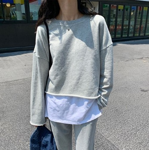【トップス】韓国ファッション長袖学園風ショートパーカー22831025