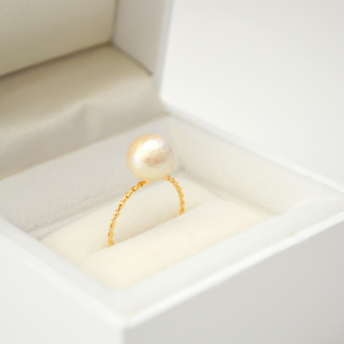 Cotton Pearl Ring