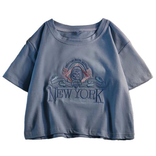 おしゃれ  フェアリー  スウィート  ラウンドネック  半袖  Tシャツ・トップス