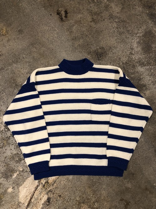 OLD Border Knit Sweater