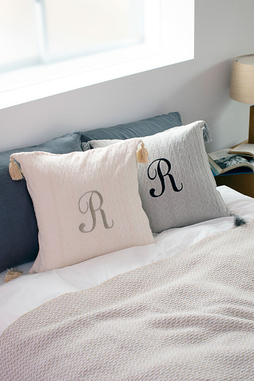 embroidery tassels cushion
