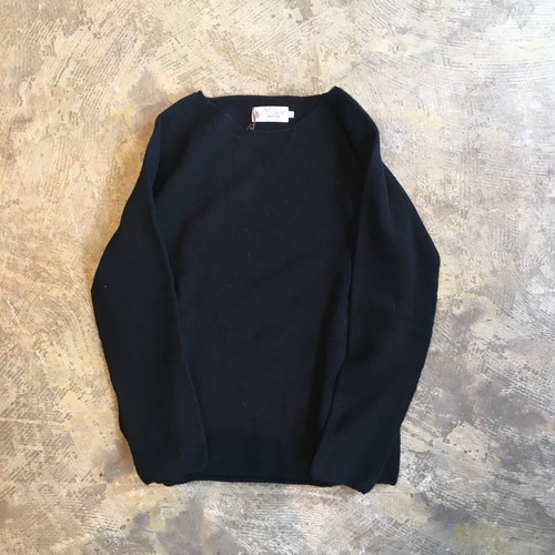 NOR'EASTERLY(ノアイースタリー) L/S WIDE NECK KNIT BLACK