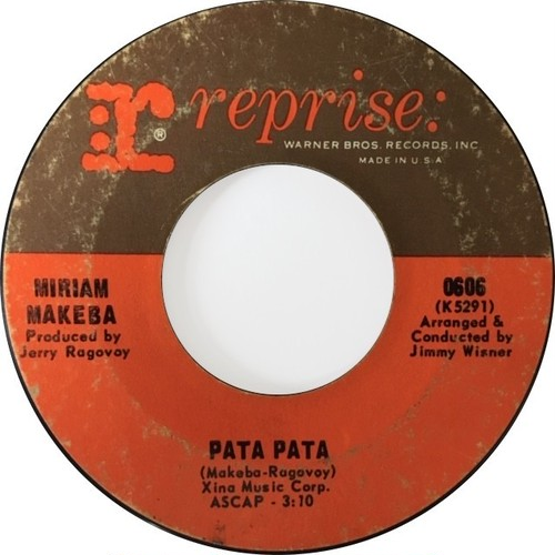 Miriam Makeba ‎– Pata Pata / The Ballad Of The Sad Young Men