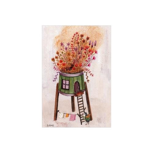 ハリネズミの自慢の庭 亀岡亜希子 ポストカード 絵葉書