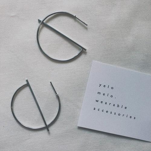 hoop line pierce (2 colors )
