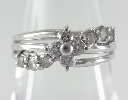 【SOLD OUT】0.50ct 10石ダイヤ アシメトリーデザイン ハーフエタニティ プラチナ ~0.50ct 10 stone diamond asymmetric design half eternity platinum~