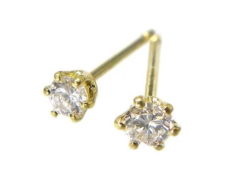 計0.70ctUP ダイヤモンド K18ピアス