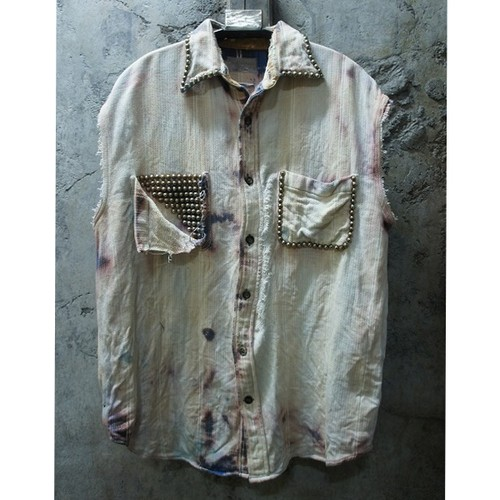 BREACHED CUT-OFF STUDS SHIRTS