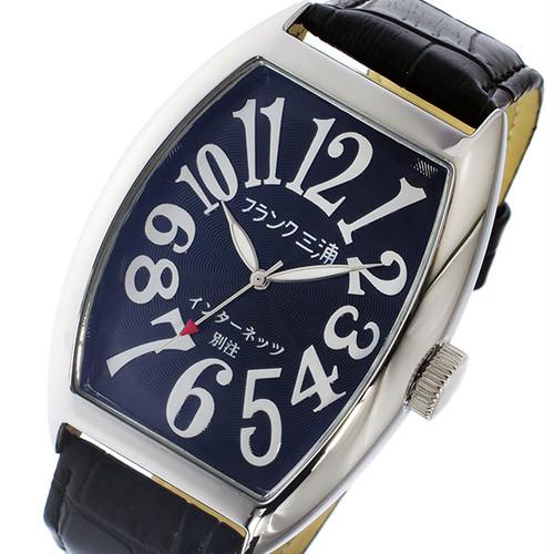 フランク三浦 インターネッツ別注 クオーツ メンズ 腕時計 FM06IT-BK ブラック 【ネット限定】 ブラック