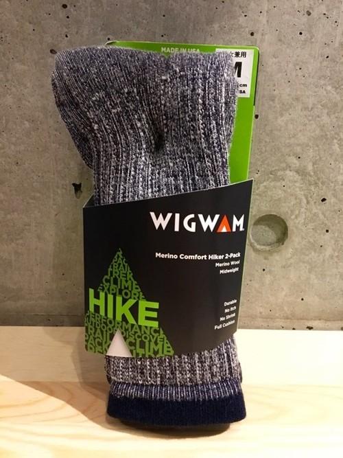 Wigwam/ウィグワム Merino Comfort Hiker 2-Packソックス NAVY[M]
