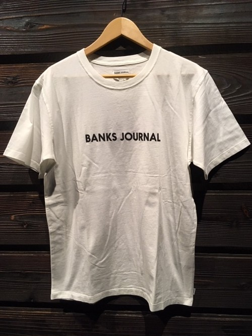 Banks Journal  Lavel Stample Tee  ATS0442  O.White  Mサイズ