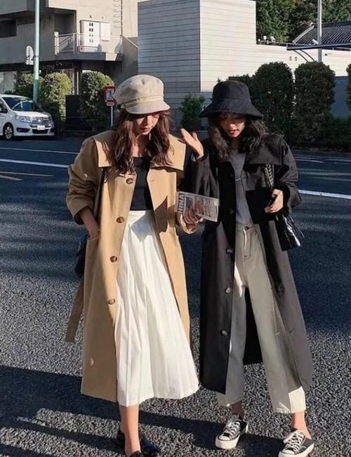 予約注文商品 セーラートレンチコート トレンチコート コート トレンチ 韓国ファッション