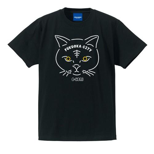 NYANP HARBOR 大濠猫Tシャツ(ブラック)