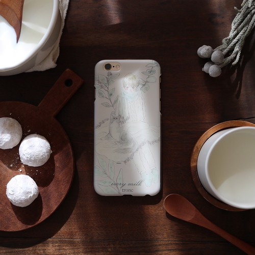 iPhone case:ivory milk(クリアケース型)
