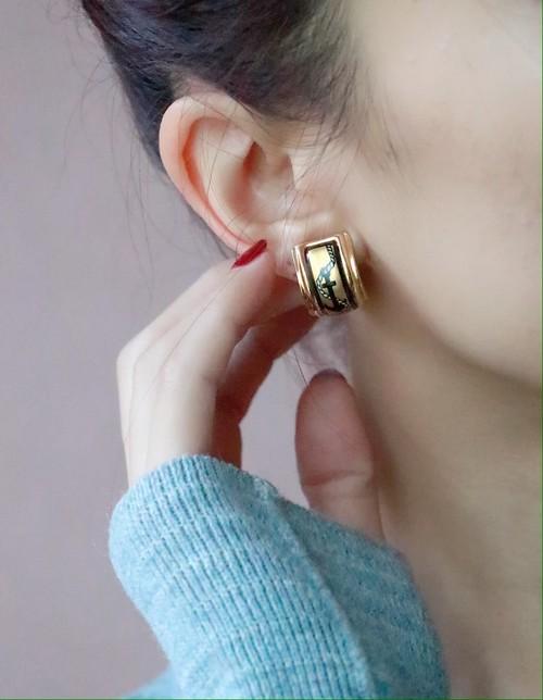 HERMES anchor motif earrings