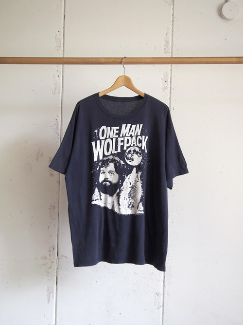 USED, ONE MAN WOLF PACK Print T-shirts