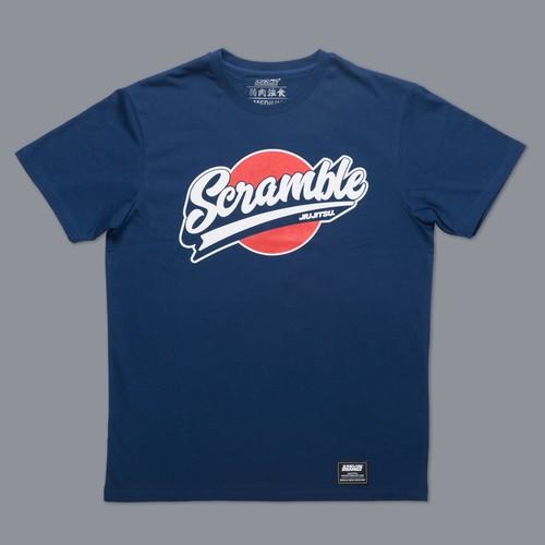 Scramble Sport Logo Tee - Navy|格闘技、柔術Tシャツ